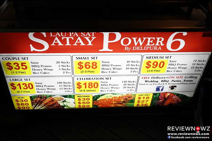 Satay Power by Delipura Menu