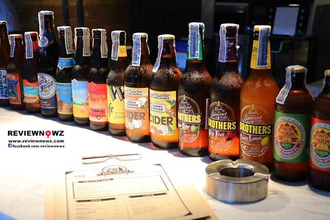 craft beer at Goji Terrace