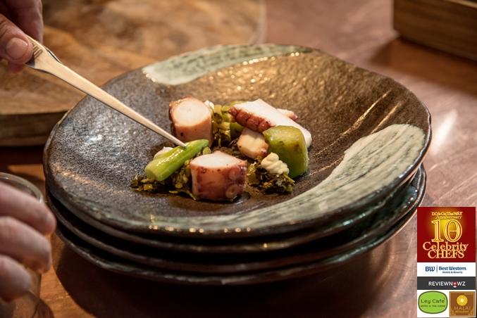 Braised Octopus Salad - decoration