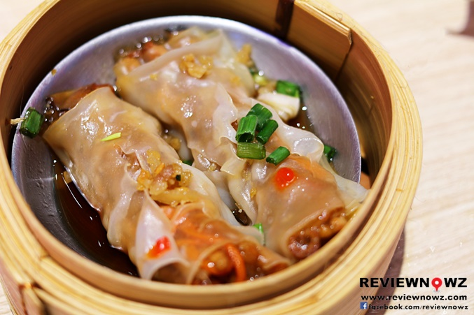 Steamed Cheung Fun Rice Noodle Roll with BBQ Pork