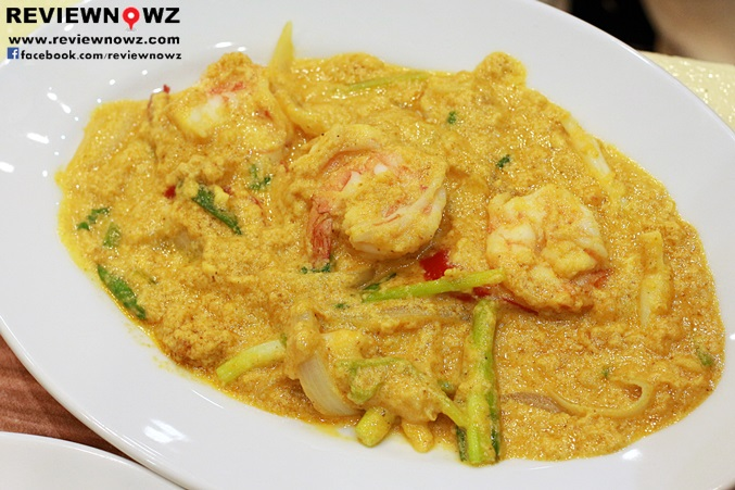 S,r-fried shrimps and curry powder