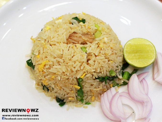 Chinese broccoli and salted fish fried rice