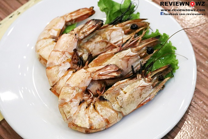 Grilled large Tiger prawns