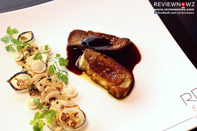roasted shallot, champignon salad and berries sauce