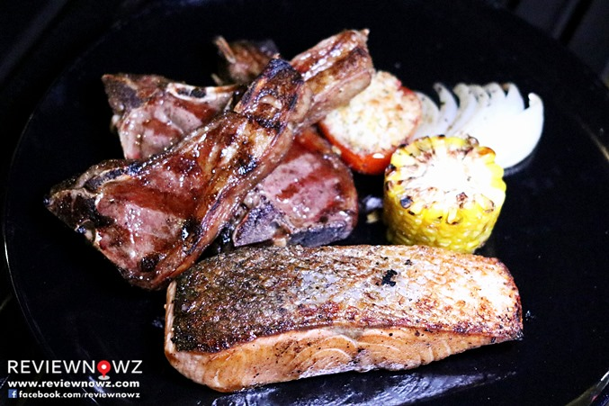 Grilled Salmon Steak / Grilled Australian Lamb Chop
