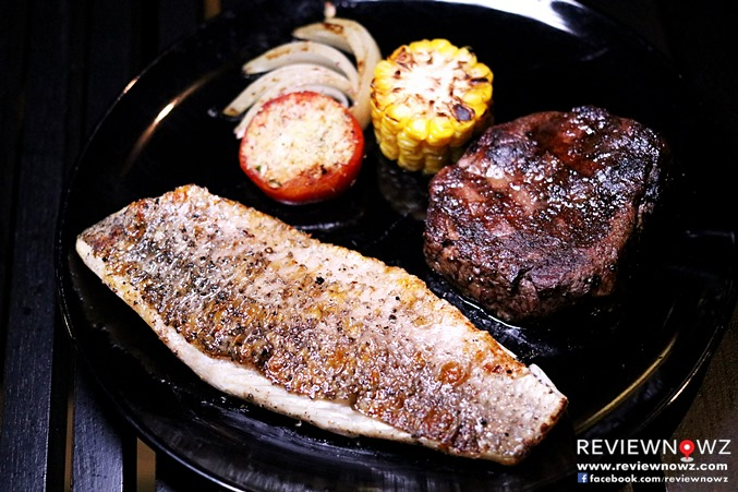Grilled Sea Bass Fillet / Grilled Australian Tenderloin Beef