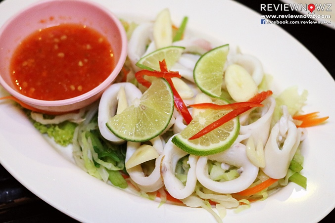 Steamed squid with lemon