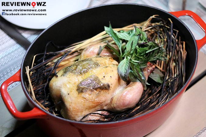 Hay Roasted Truffle Chicken