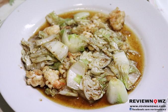 กุ้งผัดผักกาดขาว