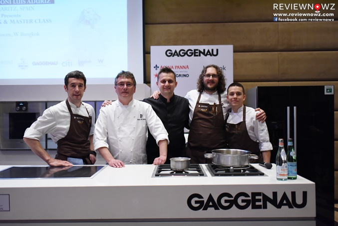 Chef Andoni Luis Aduriz, Chef Fatih, and team