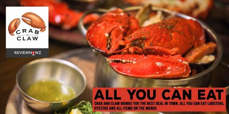 บุฟเฟ่ต์ Lobster แรงทะลุโปร.กับทานไม่อั้นทุกเมนูที่ Crab and Claw