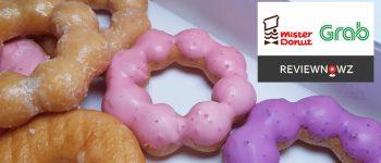 Pon De Ring ทั้งลดทั้งแถมสูงสุดเกือบ 49% ที่ Mister Donut เมื่อสั่งผ่าน GrabFood