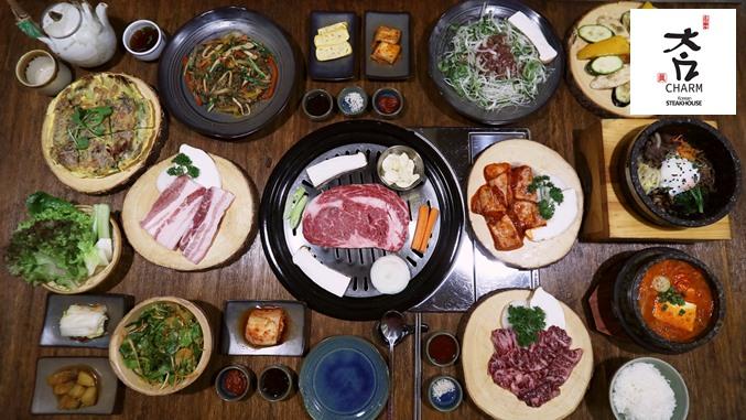 ร้านอาหารเกาหลีปิ้งย่างเนื้อนุ่มและของหวานอร่อยๆที่ Charms Korean Steak House สุขุมวิท 20