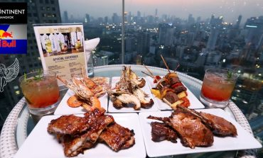 BBQ. Buffet และ Free Flow Red Bull & Bangkok Vodka Cocktail ริมสระน้ำชั้น 37 ที่ H2O @ The Continent Hotel