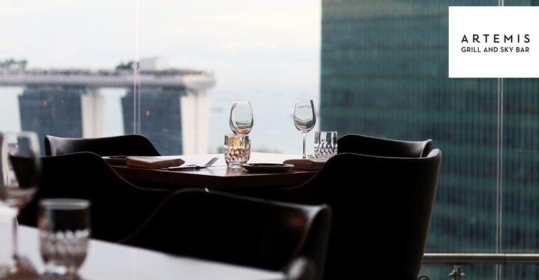 อร่อยกับอาหารสไตล์ Mediterranean ชมวิว Marina Bay จากชั้น 40 ที่ Artemis Grill & Sky Bar @ Singapore