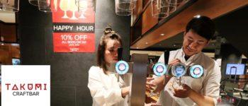 นั่งดื่มคราฟ์เบียร์สดใน Isetan ย่าน Bukit Bintang ของมาเลเซียที่ Takumi Craft Bar @ Malaysia