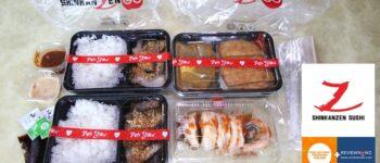 Delivery อาหารญี่ปุ่นรสชาติดีคุ้มค่าในราคาไม่ถึงร้อยที่ร้าน Shinkanzen sushi @ Siam Square