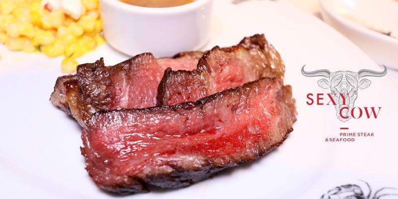 สัมผัสประสบการณ์แสนอร่อยไปกับสเต็กเนื้อนุ่มและซีฟู้ดสดๆในบรรยากาศสวยๆที่ Sexy Cow Prime Steak & Seafood @ หลังสวน