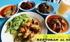 ชิมข้าวแกงท้องถิ่นสไตล์อินเดียในประเทศมาเลเซียที่ Restoran AL Mydin @ Kuala Lumpur, Malaysia
